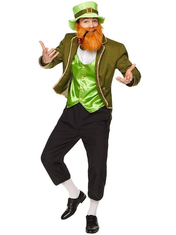Green Leprechaun Men's St Patrick's Day Costume - Main Image
