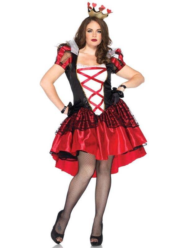 Plus Size Queen Of Hearts Deluxe Women's Costume Main