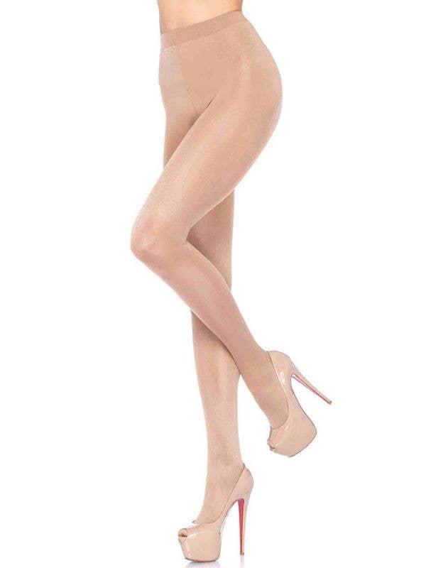 Sheer To Waist Women's Nude Costume Stockings