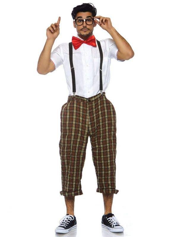 1950's Nerd Men's Schoolboy Fancy Dress Costume Main Image