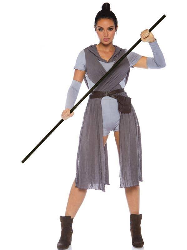 Galaxy Rebel Rey Star Wars Womens Costume - Front View