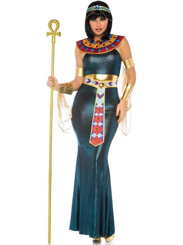 Women's Sexy Queen Cleopatra Ancient Egyptian Costume Front View