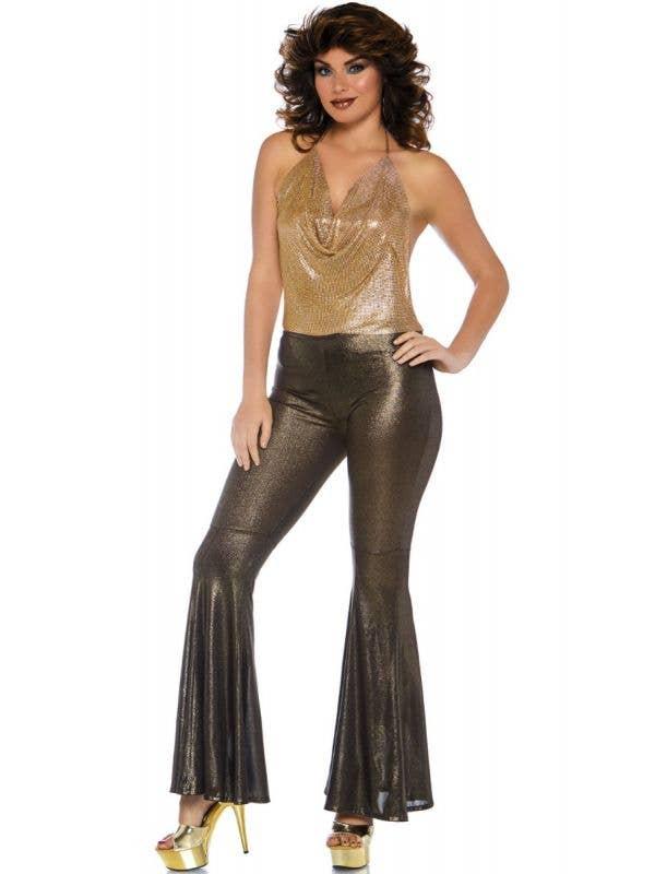 Gold Disco Diva Women's 1970's Costume Main Image
