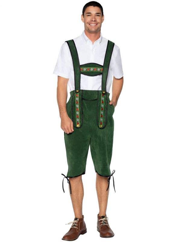 Green Lederhosen Oktoberfest Costume for Men - Main Image