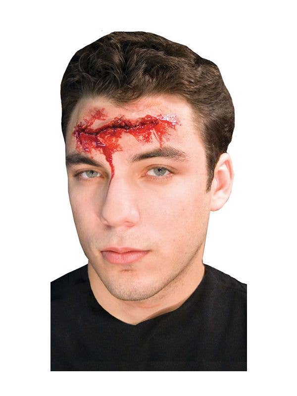 THEATRICAL SPECIAL EFFECT SLIT THROAT BLOOD ZOMBIE PROSTHETICS SLASH WOUND CUTS