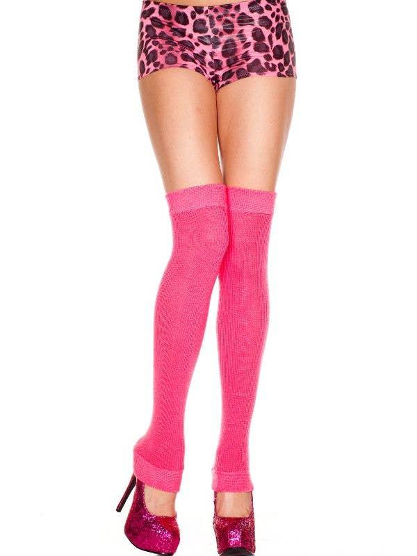 Hot Pink 80's Leg Warmers Costume Accessory