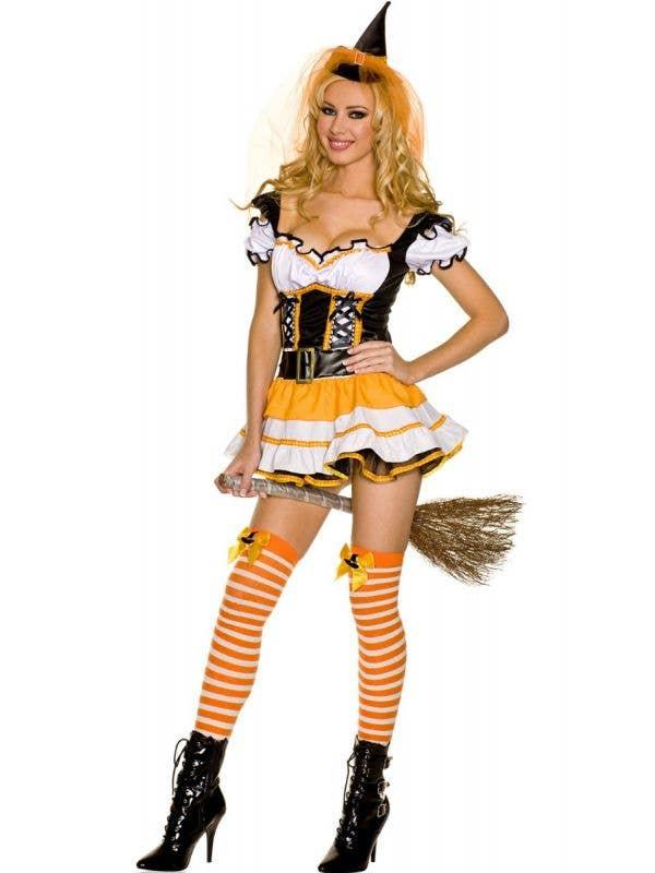 Orange Witch Women's Sexy Halloween Costume Front Image
