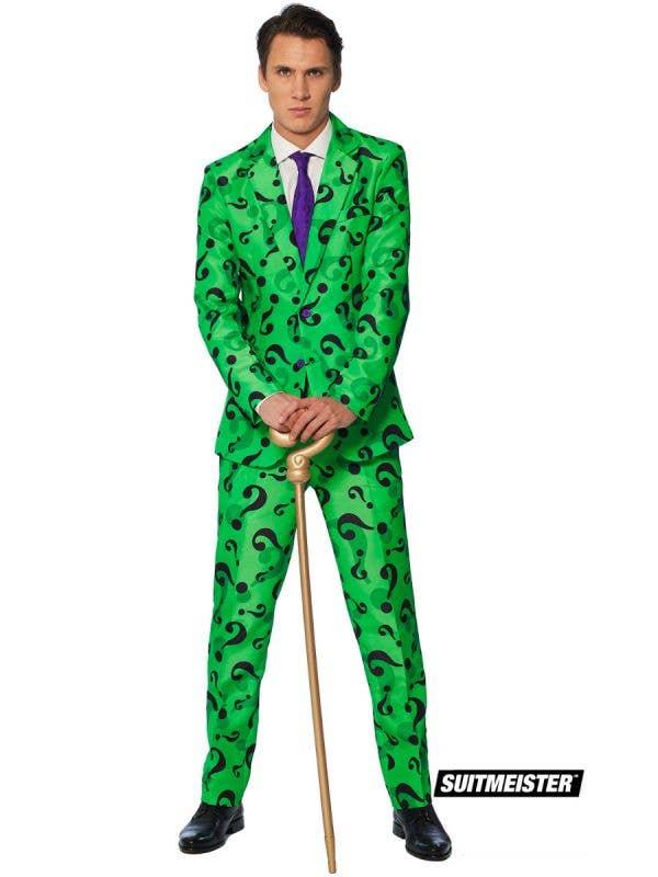 Men's The Riddler Suit Fancy Dress Suitmeister Costume Main Image