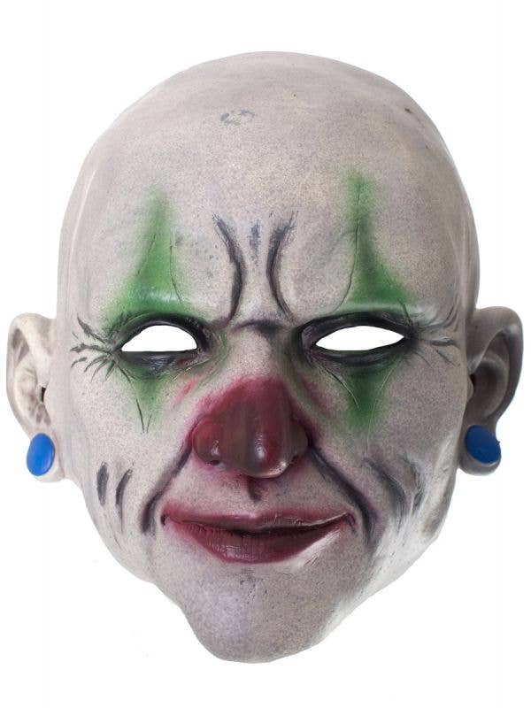 Realistic Red and Green Clown Face Latex Mask