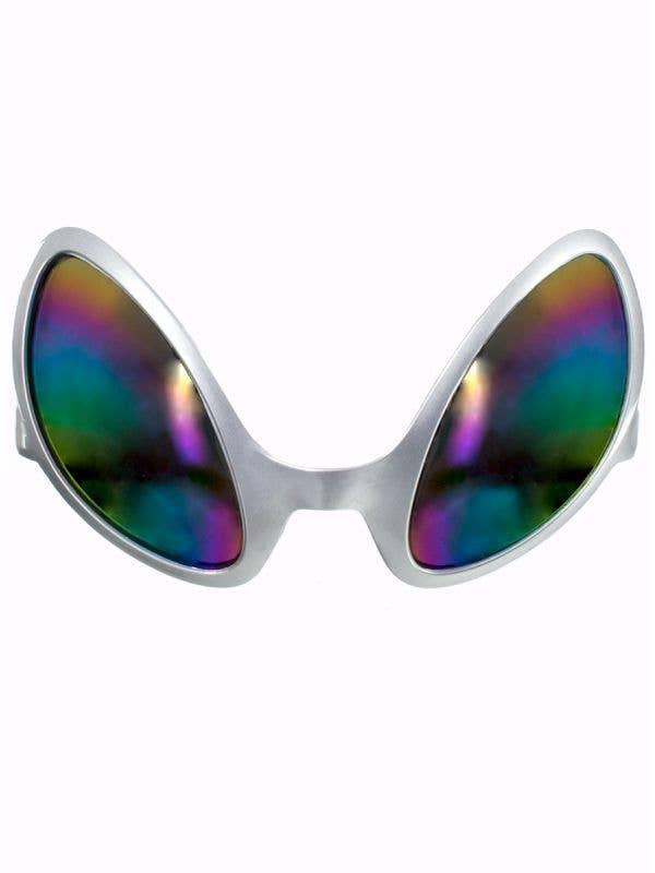Silver Space Alien Costume Glasses