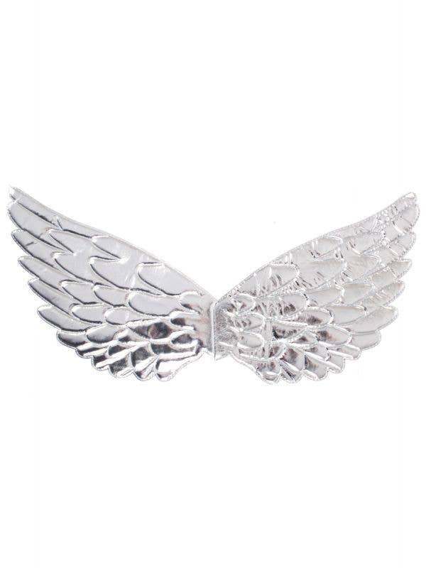 Metallic Silver Angel Costume Wings