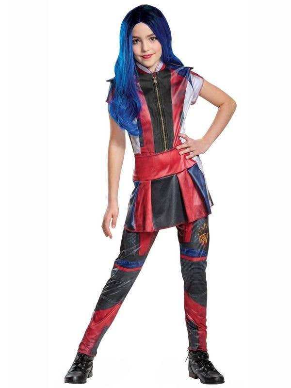 Girls Classic Evie Descendants 3 Fancy Dress Costume Front Image