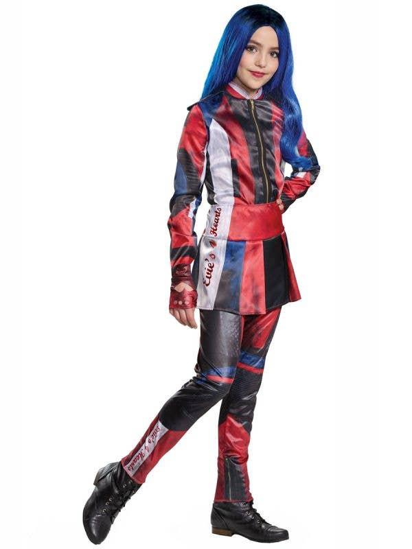 Girls Deluxe Evie Descendants 3 Disney Costume Front Image