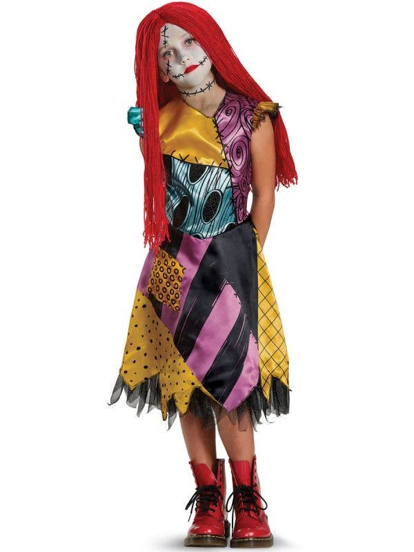 Deluxe Sally Naightmare Before Christmas Girls Dress Up Main Image