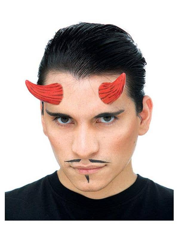 Red Devil Horns Latex Halloween Prosthetic Special Effects Makeup