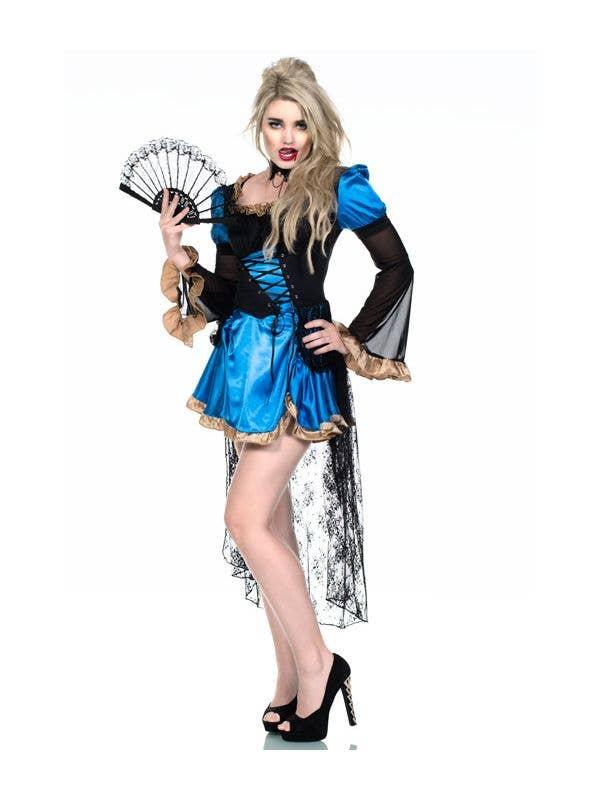 Women's Burlesque Vampire Costume Main Image
