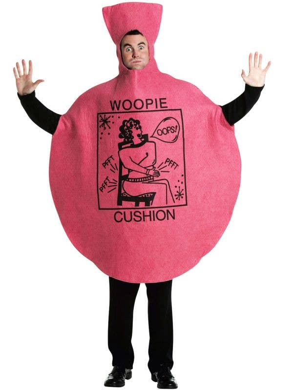 Adult's Funny Novelty Red Whoopie Cushion Dress Up Fancy Dress Costume - Image