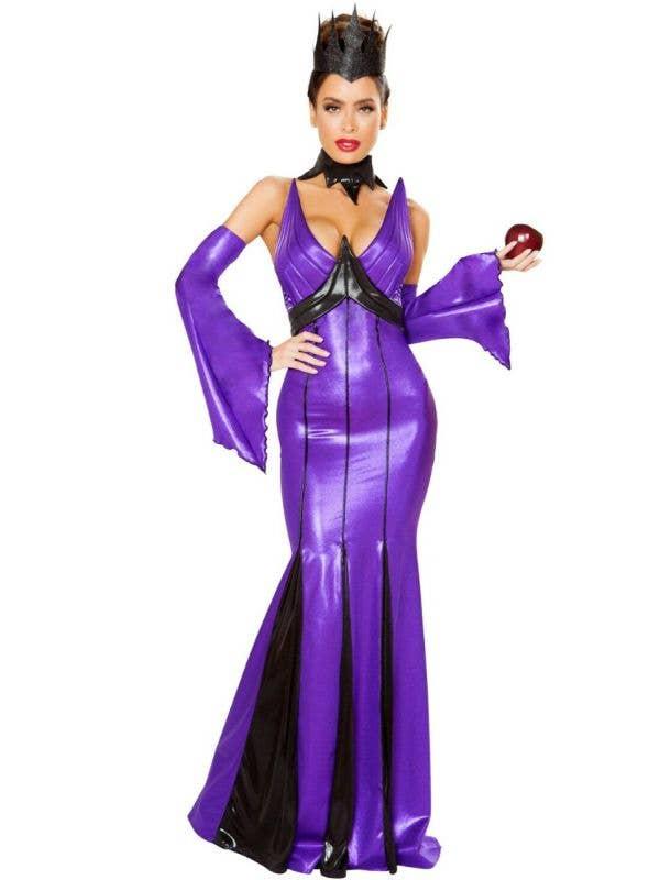 Wicked Queen Maleficent Sexy Women's Halloween Dark Fairy Costume Main Image