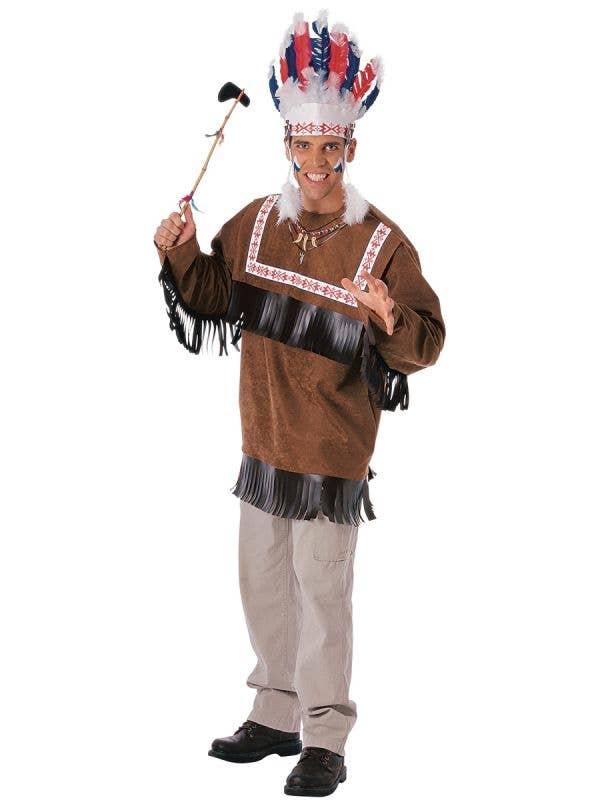 Men's Native American Indian Cherokee Warrior Costume Main Image