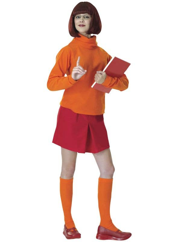 Women's Scooby Doo Velma Fancy Dress Costume - Main Image
