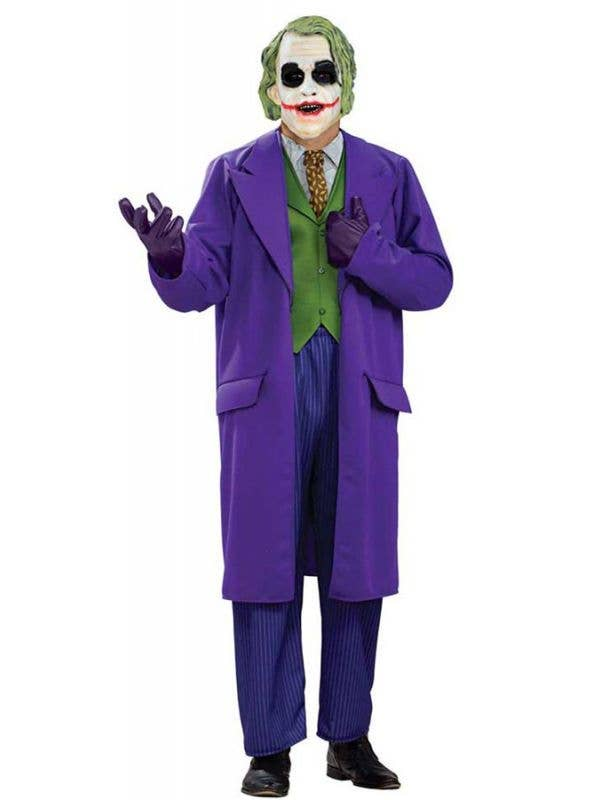 Boys Deluxe Joker Villain Halloween Batman World Book Day Fancy Dress Costume