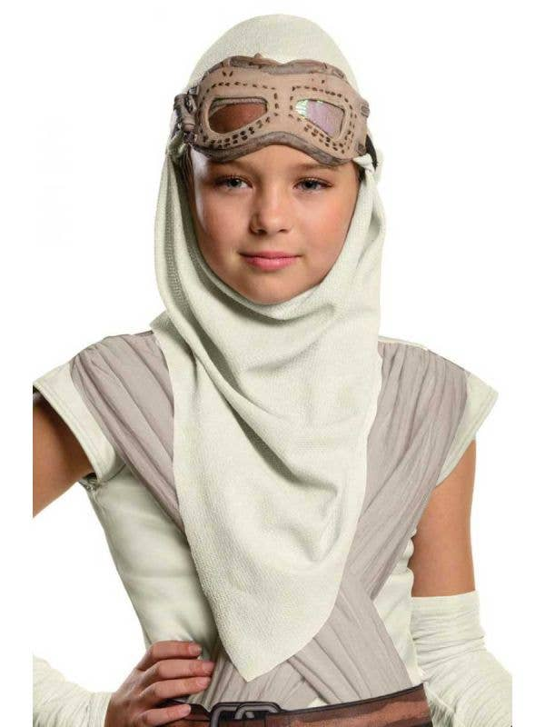 Girls Rey Star Wars Hood And Mask Costume Accessory Set Main