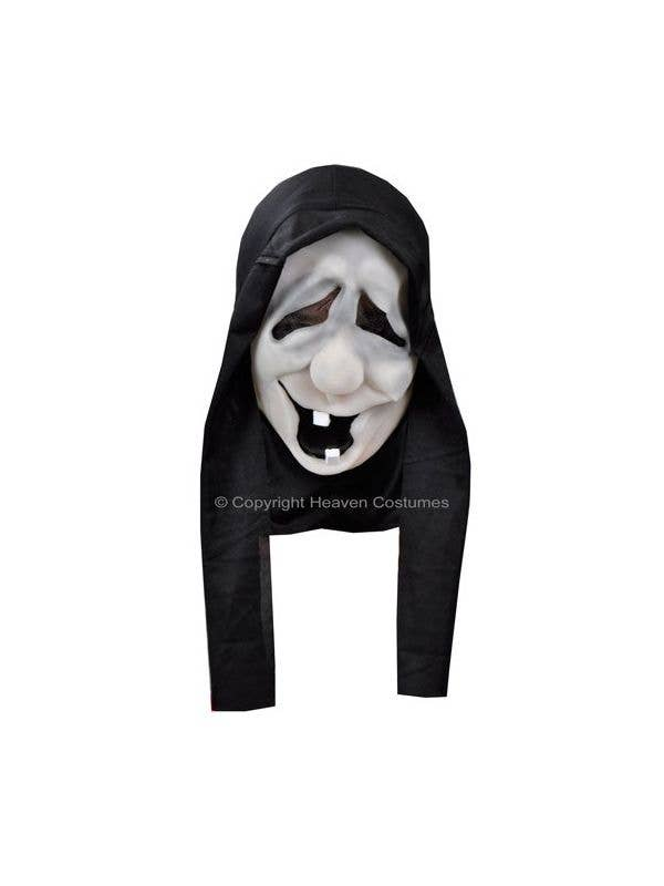 Hooded Halloween Costume Mask White Witch Face Main Image