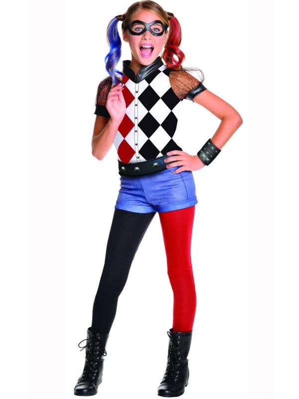 Girls DC Superhero Harley Quinn Costume Main Image