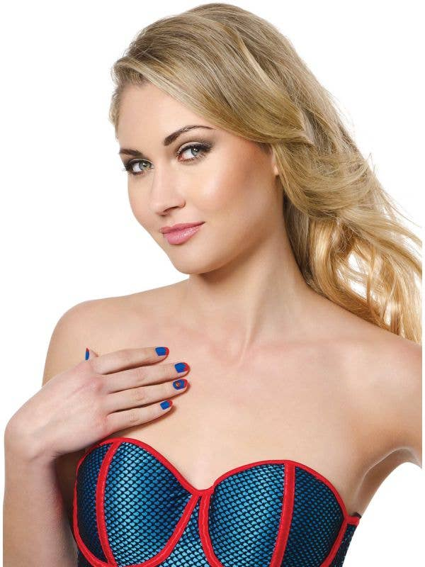 Women's Self Adhesive Officially Licensed Supergirl Nail Strips - Main Image