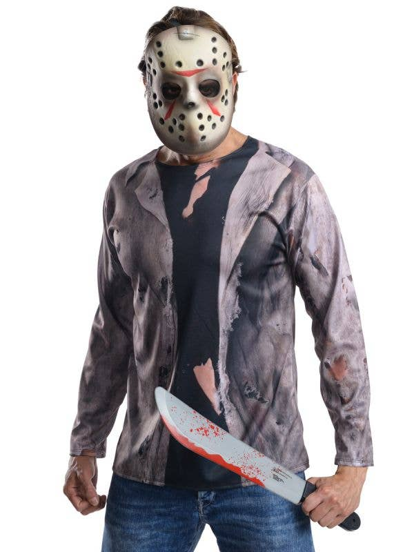 Officially Licensed Men's Friday the 13th Jason Voorhees Halloween Costume - Main Image
