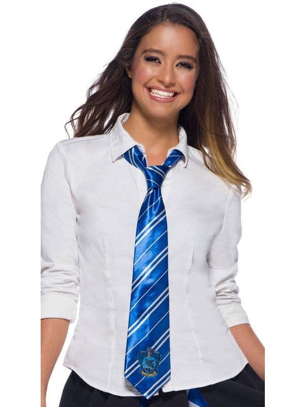 Blue Ravenclaw Harry Potter Costume Tie