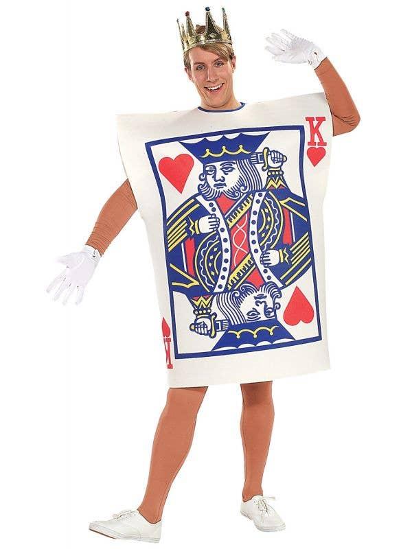 Men's King Of Hearts Tunic Fancy Dress Costume