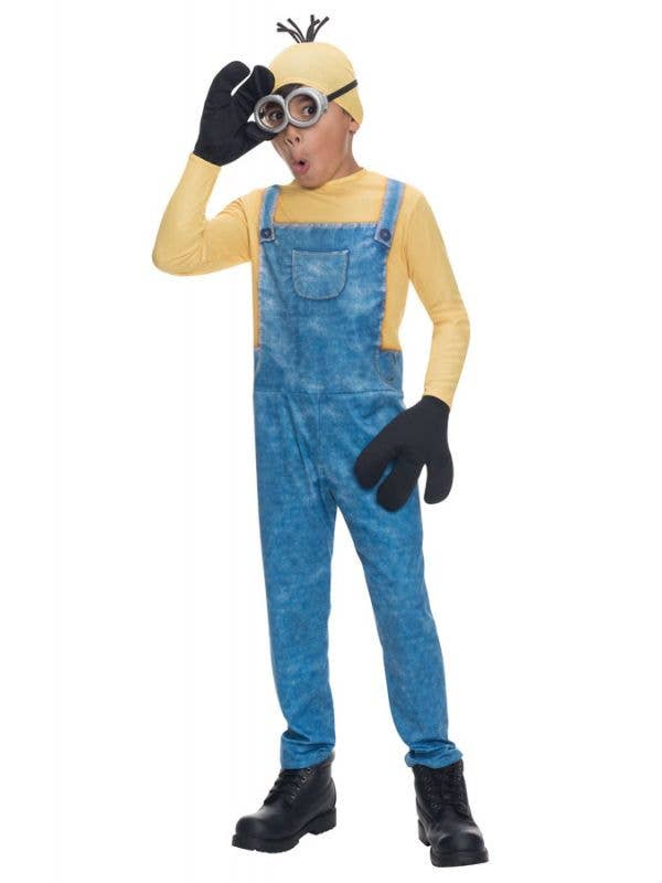 Minion Kevin Boy's Movie Character Costume Front View