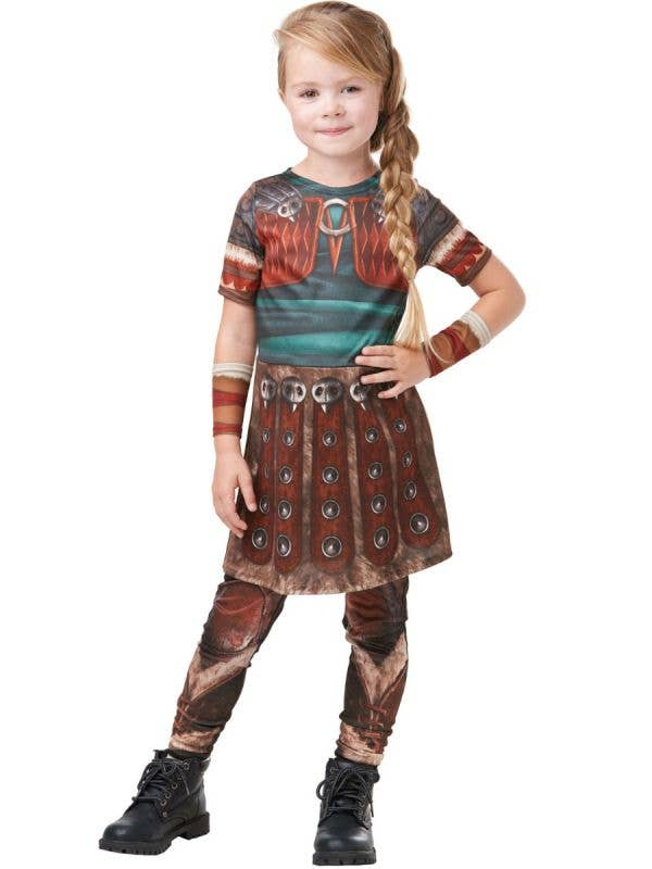 Girls Astrid How to Train Your Dragon Hidden World Book Week Costume - Main Image