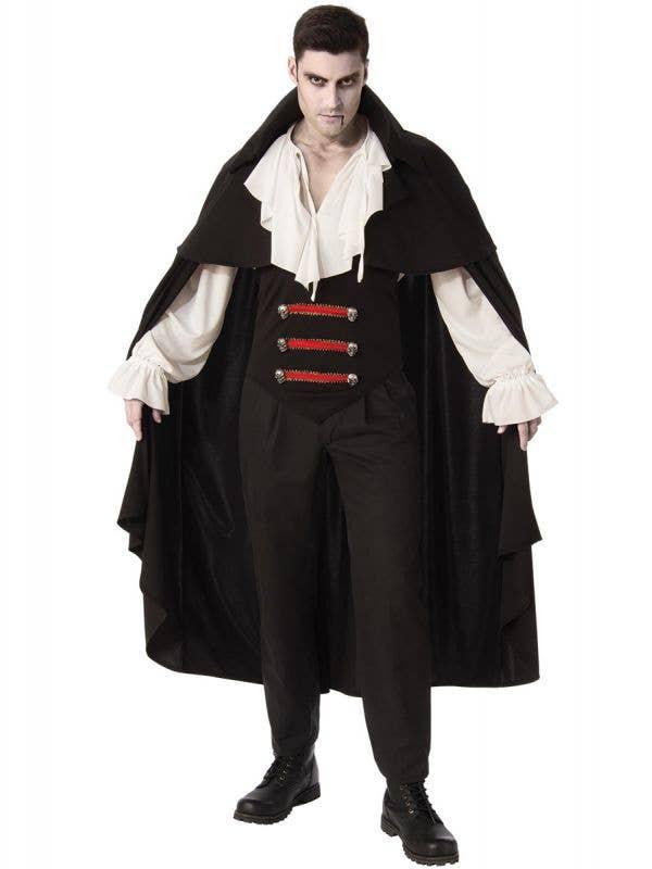 Classic Black Victorian Vampire Halloween Costume for Men