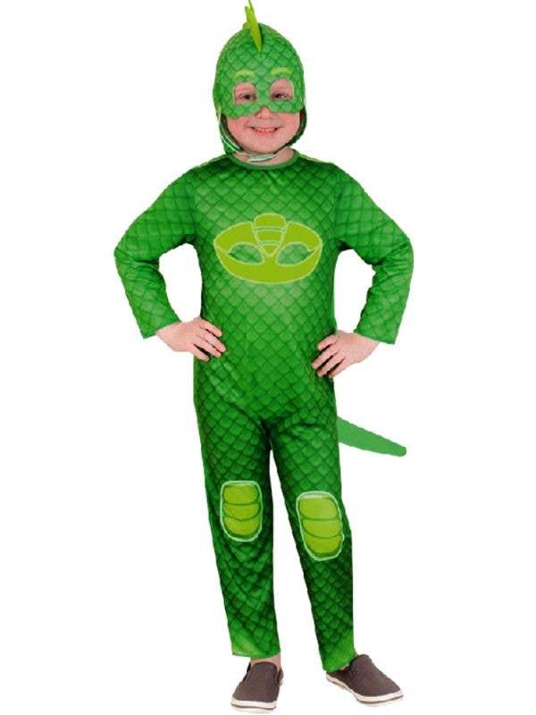 Kids Green Gekko PJ Masks Fancy Dress Superhero Costume