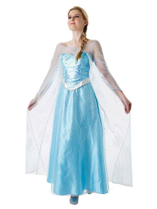 Womens Froxen Disney Princess Elsa Costume for Adults - Main Image