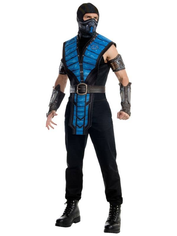Sub Zero Men's Mortal Kombat Gaming Character Costume - Main Image