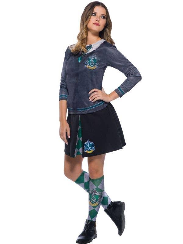 Women's Printer Slytherin Harry Potter Costume Shirt Main Image