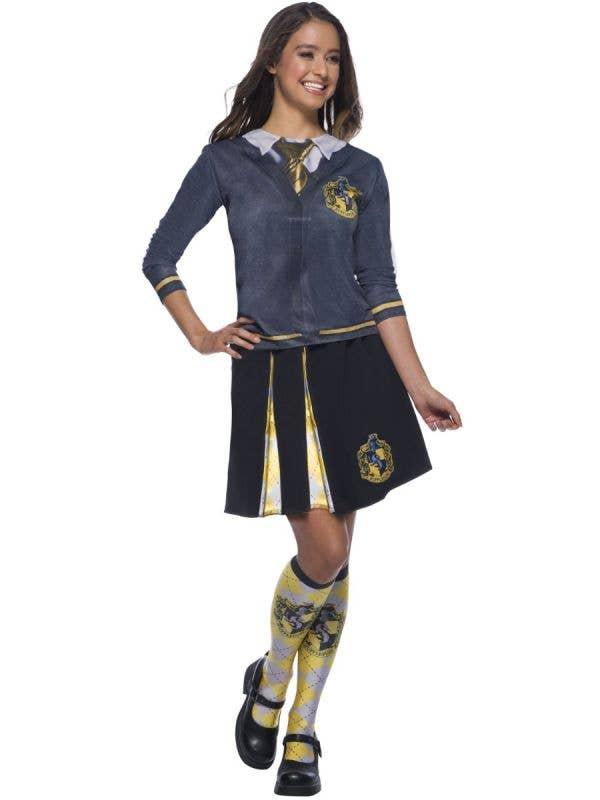 Women's Printed Hufflepuff Harry Potter Costume Shirt Main Image