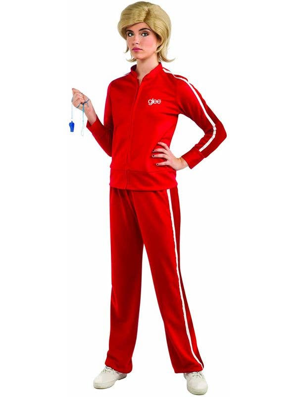 Glee- Sue's  Red Track Suit Women's TV Movie Character Costume Main Image