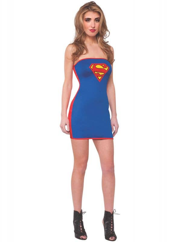 Supergirl Sexy Costume Dress for Women - Main Image