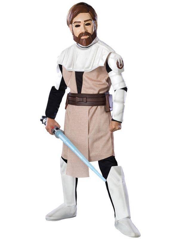 Boy's Star Wars Obi-Wan Kenobi Jedi Movie Costume Front View