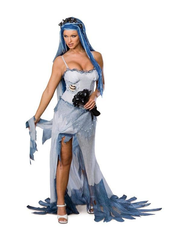 Dead Bride Costume Adult Corpse Zombie Halloween Fancy Dress