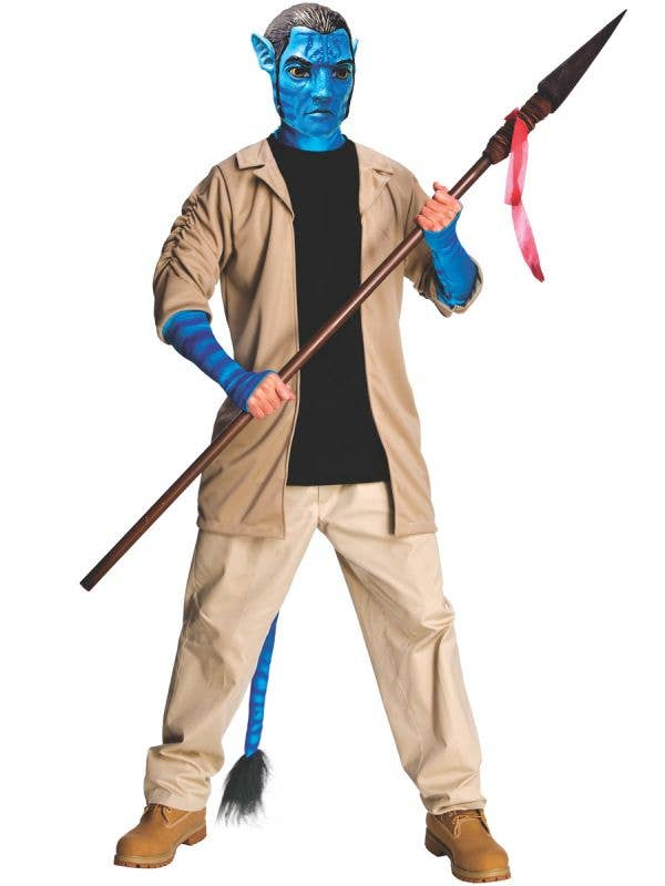Deluxe Men's Jake Sully Costume Avatar Fancy Dress Costume Main View