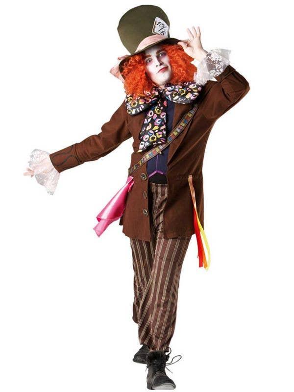 Mad Hatter Men's Tim Burton Alice in Wonderland Fancy Dress Costume
