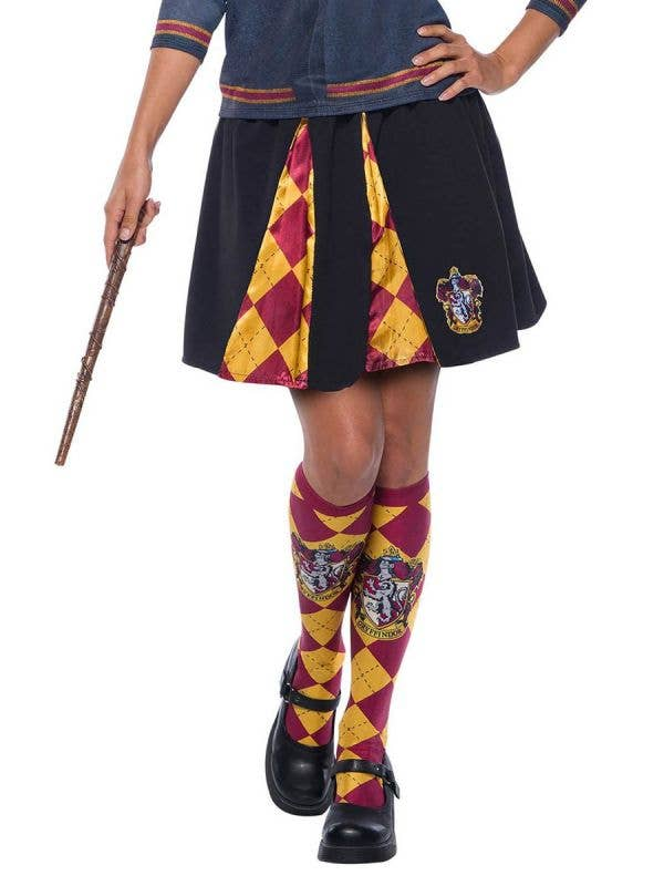 Gryffindor Costume Skirt for Women - Close Image