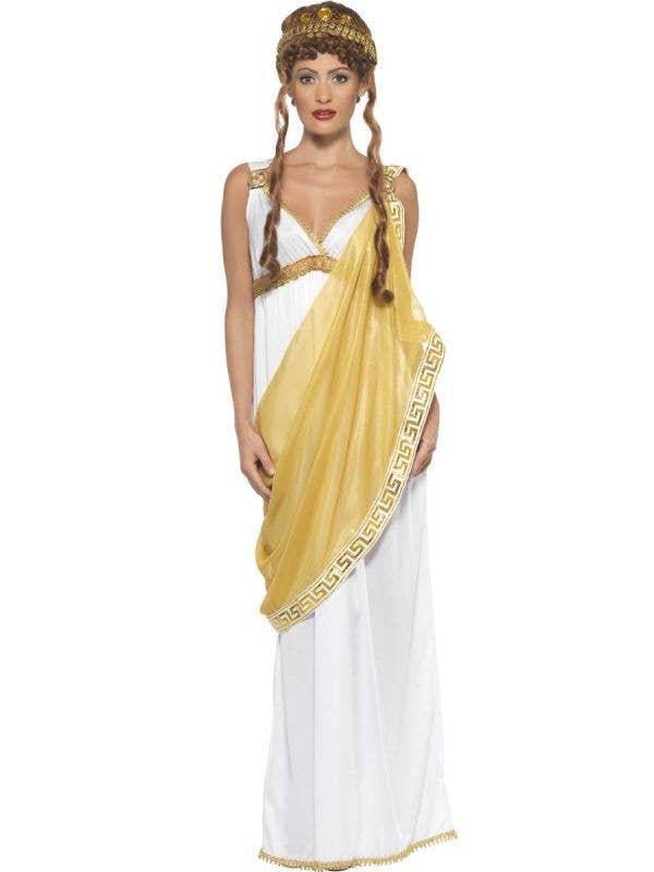 Womens Helen of Troy Greek Goddess Costume - Main Image