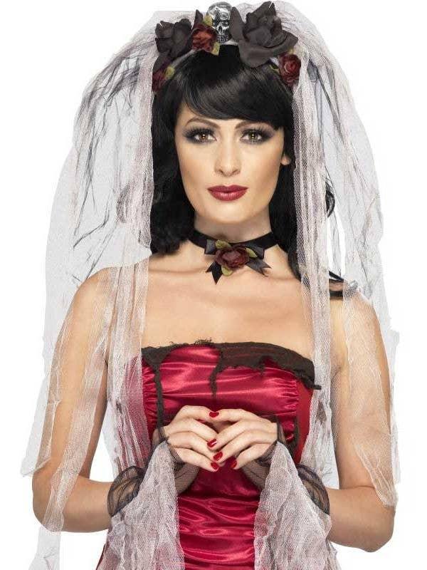 Women's Gothic Bride Costume Accessory Kit