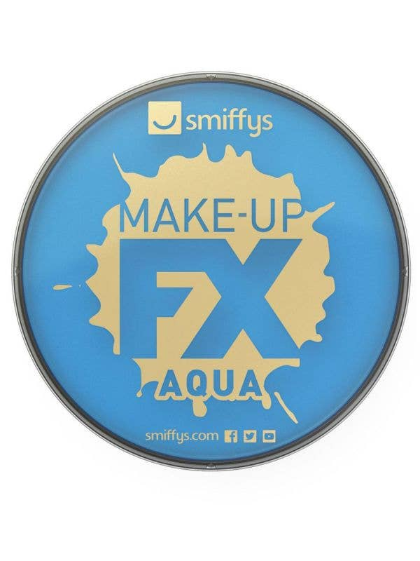 Smiffy's Pale Blue Aqua Based Compact Powder Face Paint And Costume Makeup - Main Image